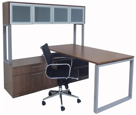 glass desk with storage trendspaces layered l desk