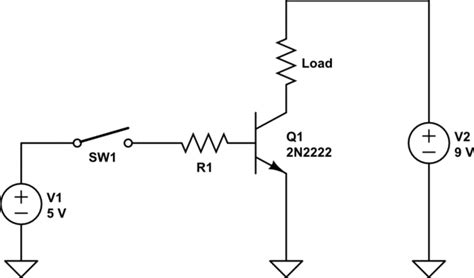 Switching 9v Using A Npn Transistor And An