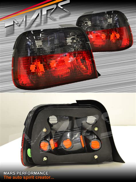 smoked red tail lights  bmw  series  hatch compact