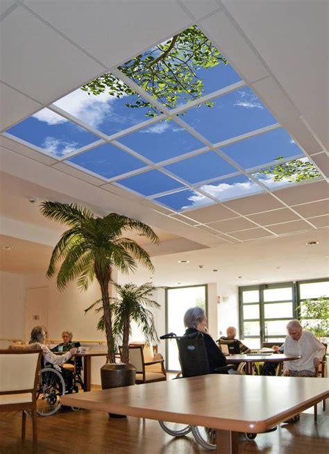 trompe l oeil plafond ehpad les vertus th 233 rapeutiques de la lumi 232 re environnement