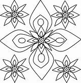 Rangoli Pages Designs Coloring Printable Pattern Patterns Diwali Templates Stencils Colouring Children Cool Adult Craft Decorations Books Creative Shapes Activities sketch template