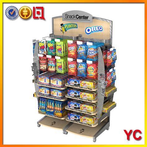 snack display rack customized metal snack stand yc fixture provide