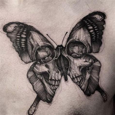 Unika Skull Butterfly Tattoo Ideer Pinterest