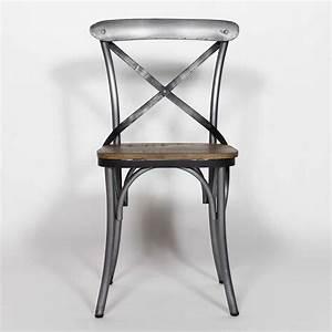 Chaise Industrielle Metal : chaise industrielle dossier croisillons made in meubles ~ Teatrodelosmanantiales.com Idées de Décoration