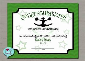 Cheerleading cheer award certificate dance gymnastics award for Cheerleading award certificate