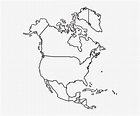 Printable North America Blank Map - Free Transparent PNG ...