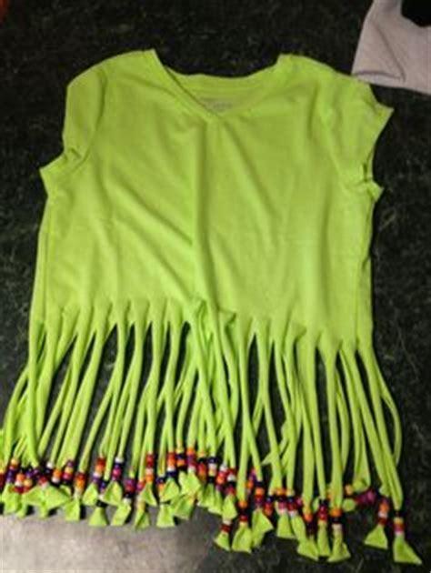 diy fringed  shirt  beads    mom  atsharon