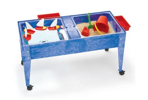 how to sand a table double well sand and water activity table with clear liner