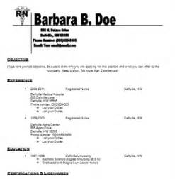 nursing resume templates free resume templates for With registered nurse resume samples free
