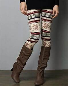 Leggings fall outfits winter outfits pattern patterned ...
