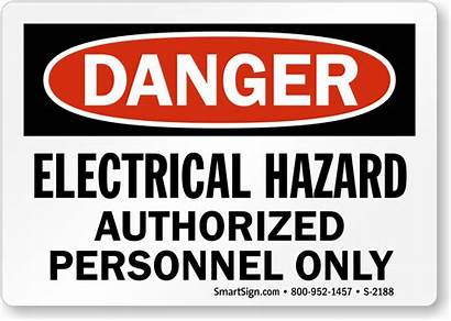 Electrical Hazard Sign Personnel Danger Authorized Signs