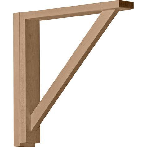 oak shelf brackets traditional oak ekena millwork 3 1 2 in x 7 in x 9 in rubberwood