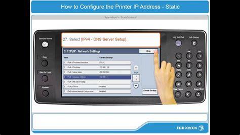 How To Configure a Static IP Address - ApeosPort-V ...