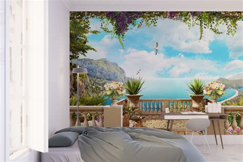 sticker trompe l oeil mural trompe l oeil wallpaper moonwallstickers