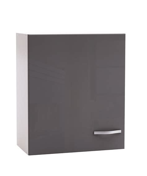 hauteur de cr馘ence cuisine meuble haut de cuisine contemporain 60 cm 1 porte blanc mat gris brillant tripoli