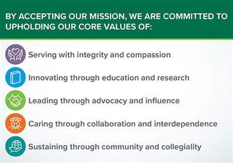 mission vision values school  medicine center