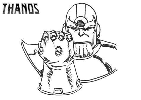 thanos and infinity gauntlet coloring page free
