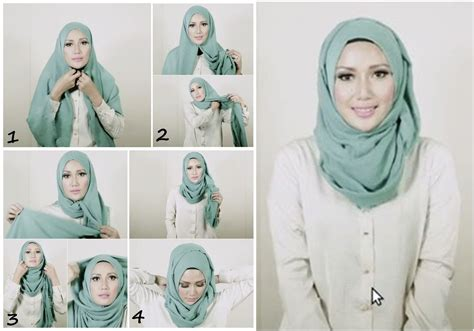 simple everyday hijab tutorial step  step hijab
