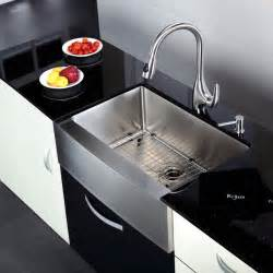 kitchen faucet and sink combo kraus khf200 30 kpf2170 sd20 30 inch farmhouse sink and faucet combo modern kitchen sinks
