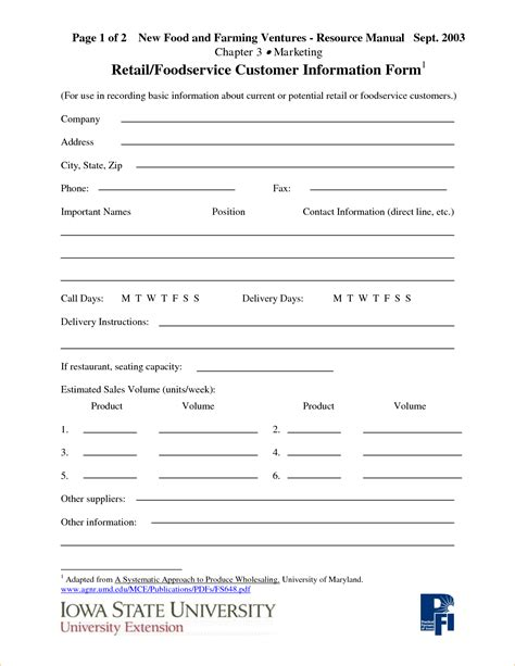 Customer Information Card Template by Customer Information Sheet Template