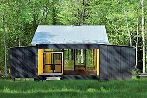 Minimalist Prefab Cottage Modern Design in Small Forest ...