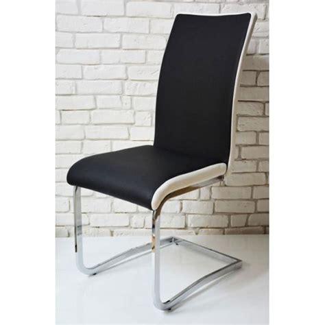 chaise noir et blanc chaise design bi color max