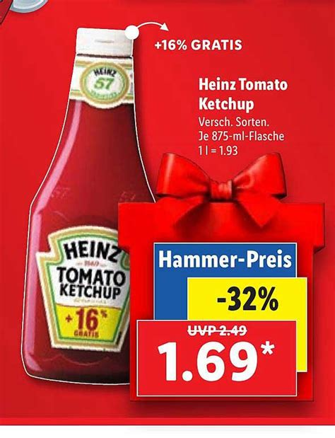 Heinz Tomato Ketchup Angebot bei Lidl