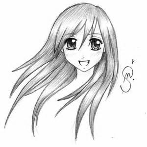 Cute Manga Girl Drawing
