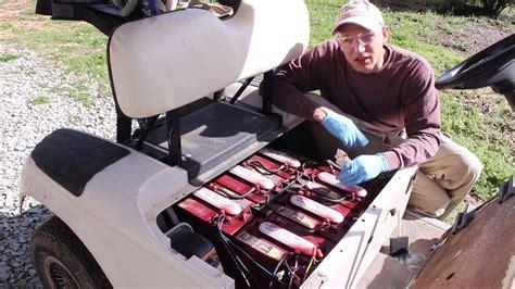 golf cart maintenance battery fill test wash ezgo review