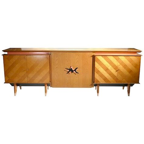 french midcentury extra large modernist oak sideboard roy  style   maison cedric