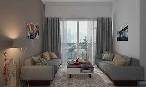 Grey Curtain Colours For Living Room : Combination Curtain
