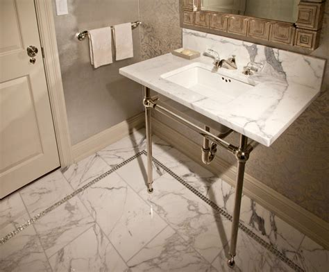 park avenue residence modern powder room new york