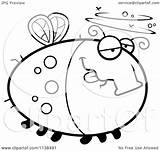 Fly Drunk Cartoon Clipart Coloring Outlined Chubby Vector Thoman Cory 2021 sketch template