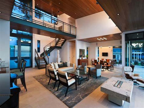 Modern open plan interior designs, modern living room open