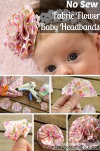 fabric flower baby headbands create and babble