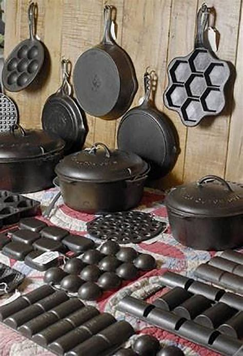 iron cast cookware pans antique cooking baking skillets collection pots skillet pan pot these kitchen recipes metal jim tools collections