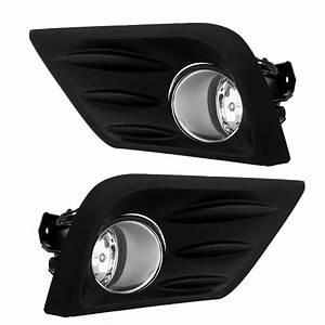 New Fog Light Kit For Nissan Altima 2016 2017 Lamps Bezels