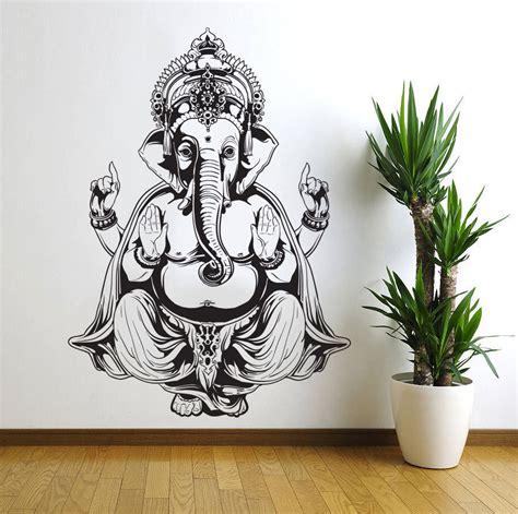 stickers om pour chambre ganesh elephant god om buddha mandala ganapati living