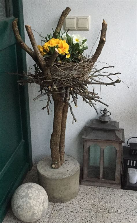 fruehlingsdeko hauseingang fruehlings dekoration deko
