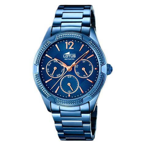 Trendy Watches Lotus Woman 182482 Blue Rose Gold Plated. Cartier Brooch. 4 Name Necklace. Womens Ankle Bracelets. Funky Bands