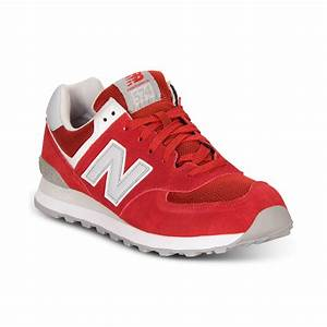 New Balance 574 Athletic Casual Sneakers in Red for Men ...