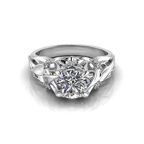 engagement rings flower design floral engagement ring jewelry designs