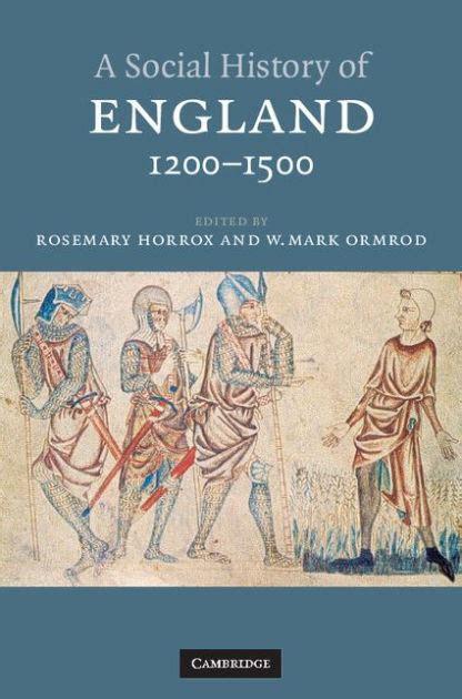 social history  england    rosemary horrox