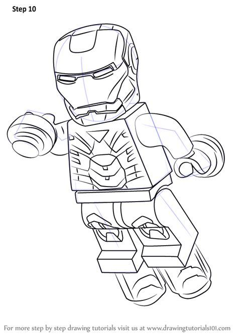 learn   draw lego iron man lego step  step