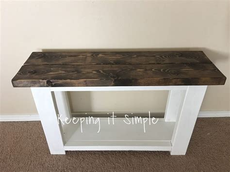 How To Build A Sofa Side Table For About  • Keeping It