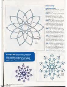 christmas crafts beaded snowflakes patterns make handmade crochet craft