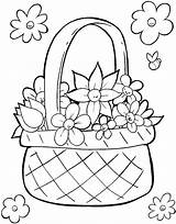 Easter Coloring Basket Pages Printable Colouring Flower Printables Template Print Spring Egg Getcolorings Adult Templates Food Flowers Colori Colorings Getcoloringpages sketch template