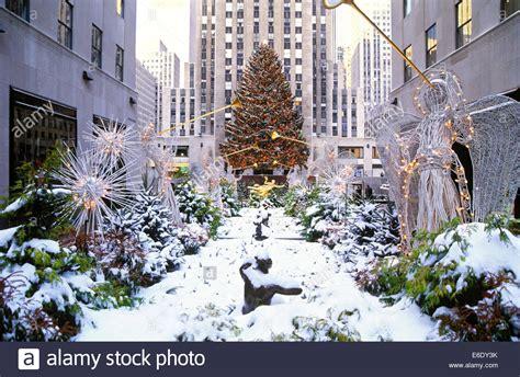 christmas tree rockefeller center manhattan new york usa stock photo royalty free image