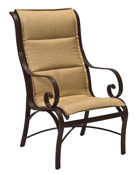 woodard wingate padded sling dining chair outdoor living