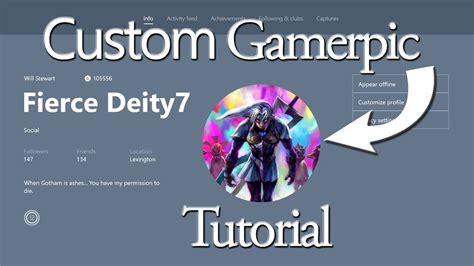 custom gamerpic tutorial for xbox one